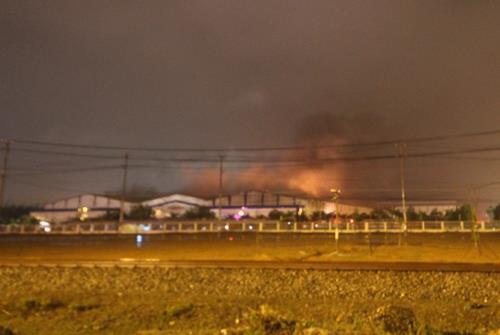 Hỏa hoạn thiêu rụi khu nhà xưởng sản xuất, lắp ráp ô tô Trường Hải 1