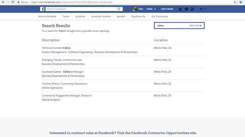 Hình ảnh Facebook ra mắt trang tìm việc, cho phép nộp hồ sơ xin việc số 2