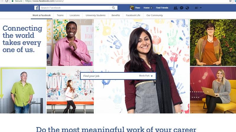 Hình ảnh Facebook ra mắt trang tìm việc, cho phép nộp hồ sơ xin việc số 1