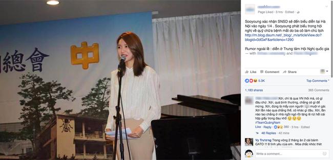 Sooyoung lên tiếng xác nhận SNSD sẽ đến Việt Nam vào đầu tháng 4 3