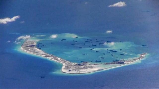 Hình ảnh Biển Đông: Trung Quốc trắng trợn nói không có đảo nhân tạo ở Trường Sa số 1