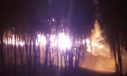 Cơ sở tái chế dầu nhớt lậu bốc cháy dữ dội, hàng trăm thùng phuy phát nổ 3