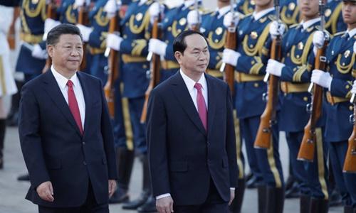 Trung Quốc bắn 21 phát đại bác chào đón Chủ tịch nước Trần Đại Quang 1