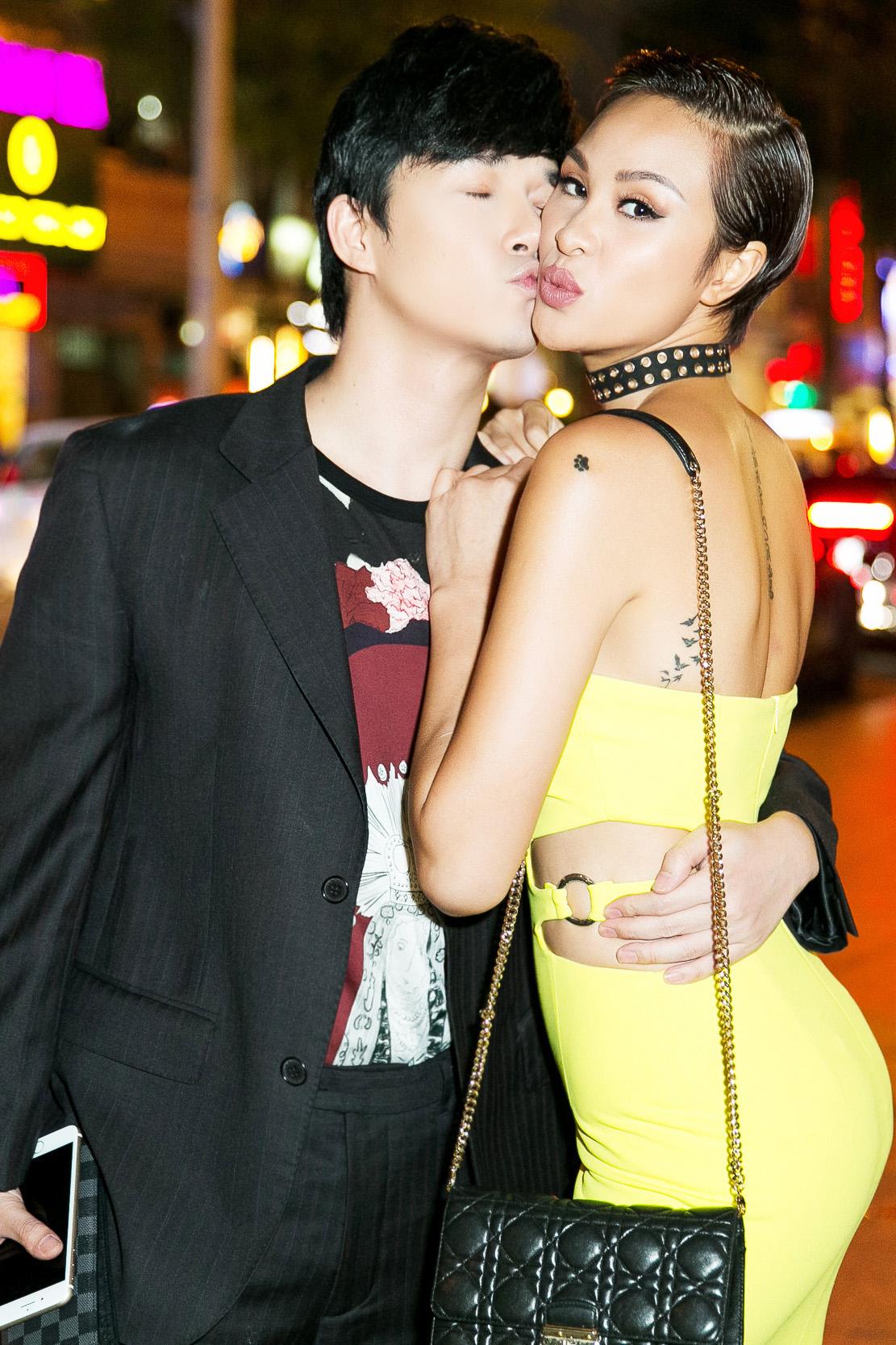 Nathan Lee hôn Phương Mai giữa chốn đông người 3
