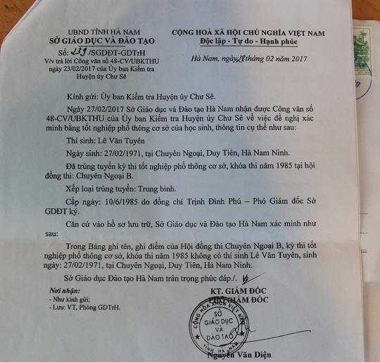 Phó bí thư xã bị cách hết chức vụ Đảng vì dùng bằng giả 2