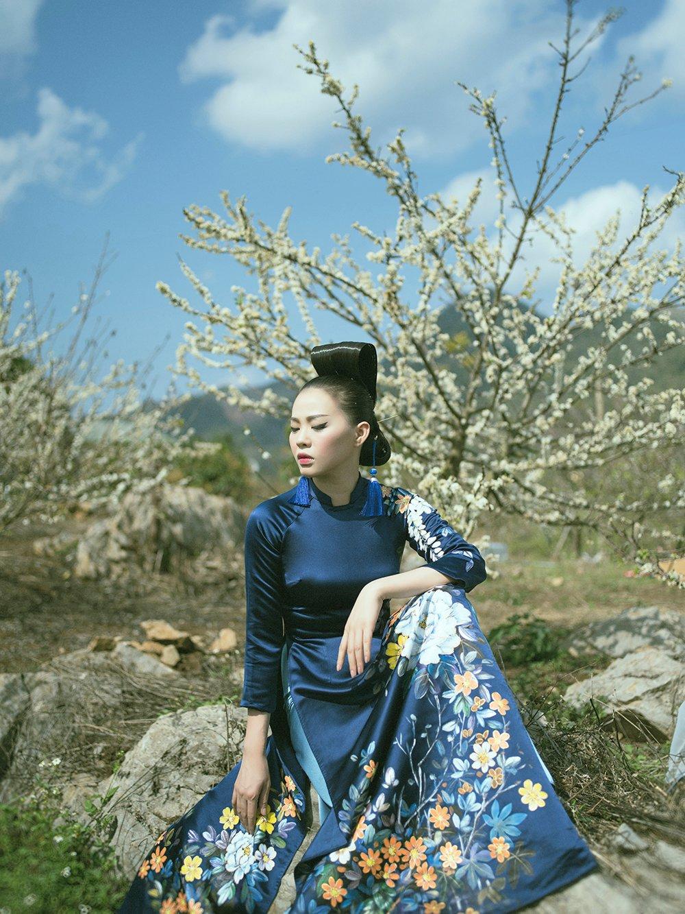 'Phù thủy makeup' Kenny Thái ra mắt BST áo dài mang phong cách Nhật Bản 10