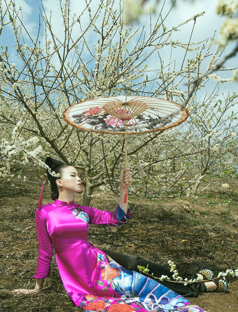 'Phù thủy makeup' Kenny Thái ra mắt BST áo dài mang phong cách Nhật Bản 5