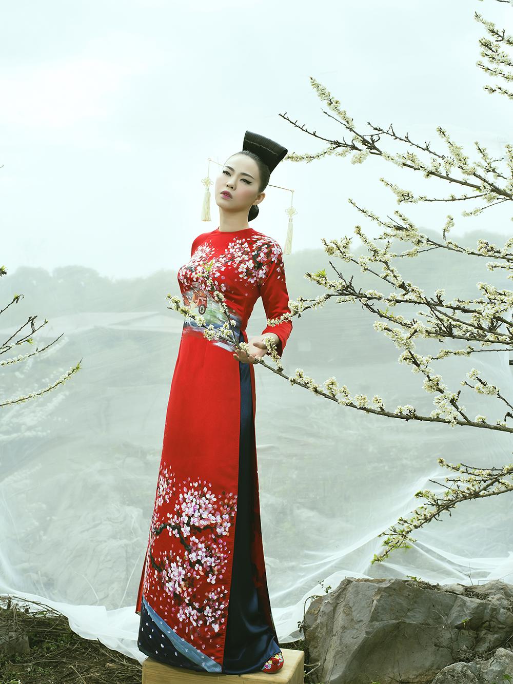 'Phù thủy makeup' Kenny Thái ra mắt BST áo dài mang phong cách Nhật Bản 7