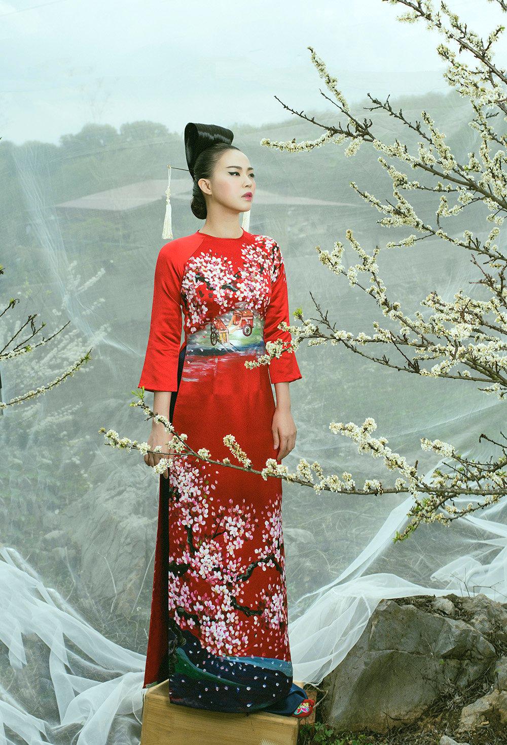 Hình ảnh Phù thủy makeup Kenny Thái ra mắt BST áo dài mang phong cách Nhật Bản số 8
