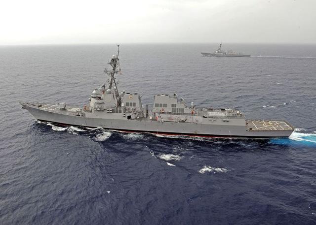 Biển Đông: Tàu chiến Mỹ diễn tập sát đảo nhân tạo phi pháp của Trung Quốc 1