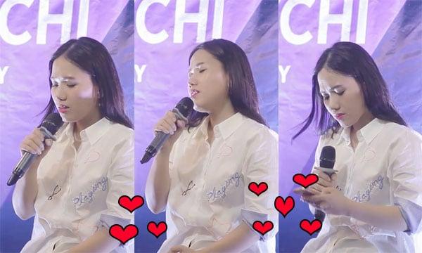 """Hình ảnh Thùy Chi khiến fans """"đốn tim"""" với bản cover """"hát live số 1"""