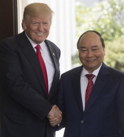 Cuộc hội đàm đầu tiên giữa Thủ tướng Nguyễn Xuân Phúc và Tổng thống Mỹ Donald Trump 7