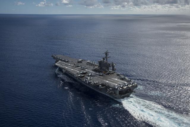 Nhóm tác chiến tàu sân bay Mỹ rời bán đảo Triều Tiên 1