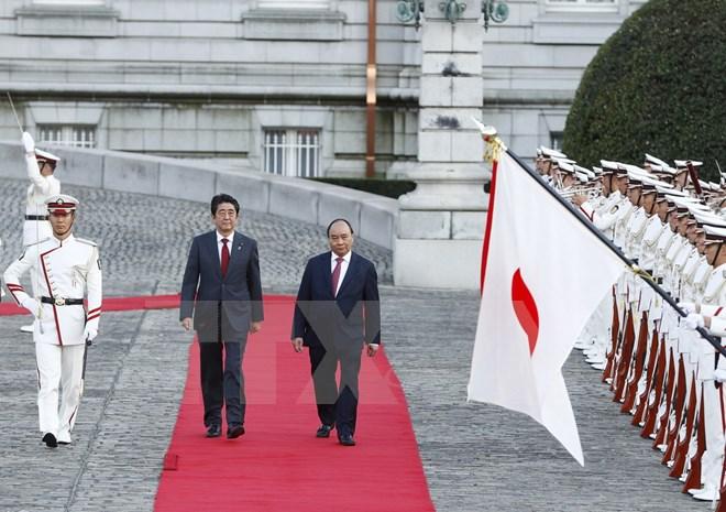 Lễ đón chính thức Thủ tướng Nguyễn Xuân Phúc thăm Nhật Bản 1