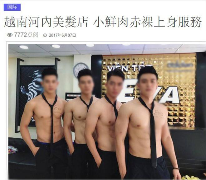 Dàn trai đẹp cắt tóc, gội đầu 6 múi ở Hà Nội lên báo nước ngoài 2
