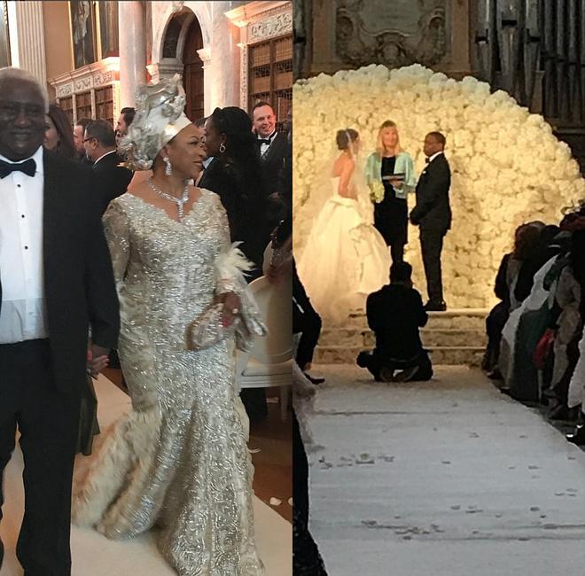 Đám cưới sang chảnh của con trai tỷ phú da màu giàu nhất thế giới 3