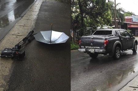 Khởi tố vụ phóng viên VTV bị lái xe ô tô tông hỏng máy quay phim tiền tỷ 1