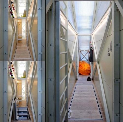 Choáng ngợp với ngôi nhà mỏng nhất thế giới rộng 1,2 m khiến nhiều người