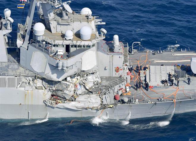 Hình ảnh Tình tiết đáng ngờ vụ khu trục hạm Mỹ bị tàu hàng Philippines đâm số 1