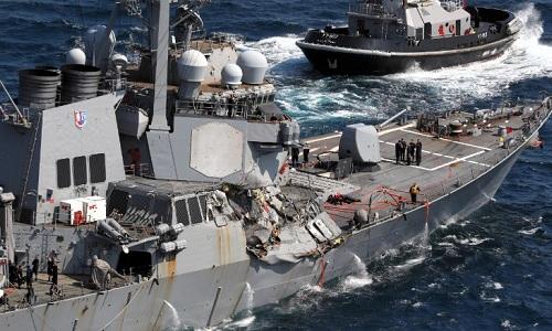 5 thủy thủ Mỹ tử vong lập tức ngay khi tàu chiến bị tàu hàng đâm? 1