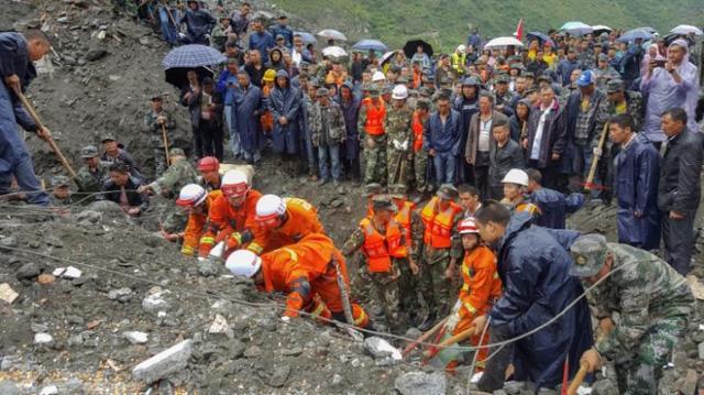 Không còn hy vọng sống sót cho 93 người trong vụ lở đất ở Trung Quốc 1