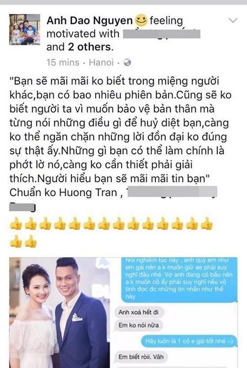 Hết vợ Việt Anh đến vợ Hồng Đăng lên tiếng vụ lùm xùm từ tin nhắn điện thoại Bảo Thanh 2
