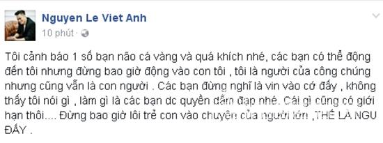 Việt Anh đáp trả đanh thép sau vụ lùm xùm với Bảo Thanh 2
