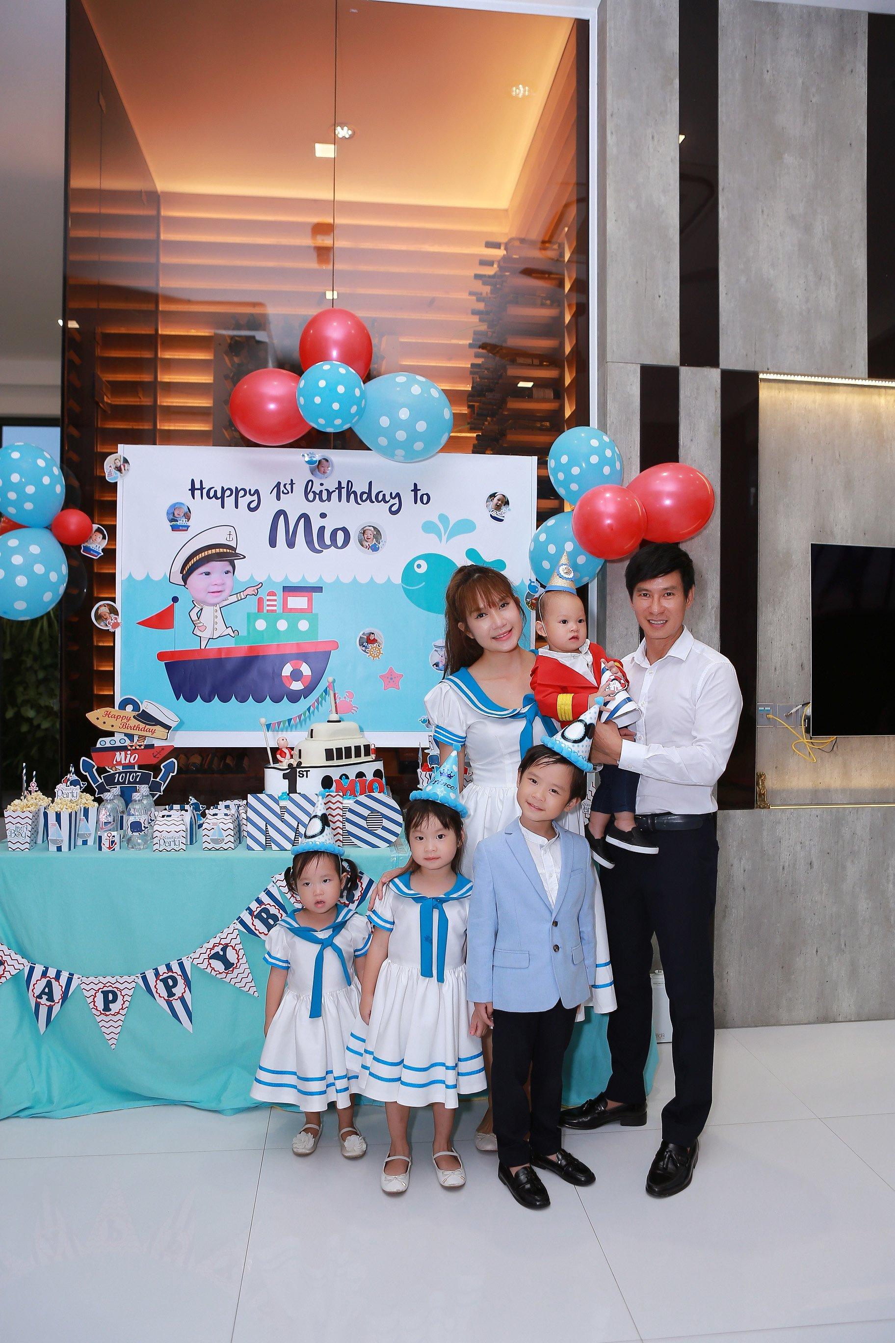 Hình ảnh Vợ chồng Lý Hải tổ chức sinh nhật rình rang cho con thứ tư số 5