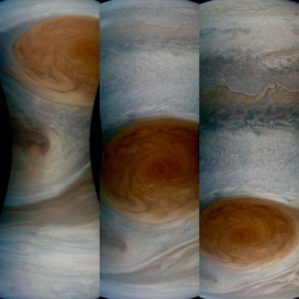 NASA công bố ảnh cận cảnh siêu bão Vết Đỏ Lớn trên Sao Mộc 1