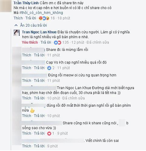 Lan Khuê bị anti-fan trách khi chia sẻ về bệnh tình của bố Phạm Hương 5