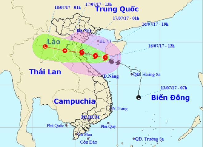 Bão số 2 giật cấp 12 tiến thẳng vào Thanh Hóa – Hà Tĩnh 1