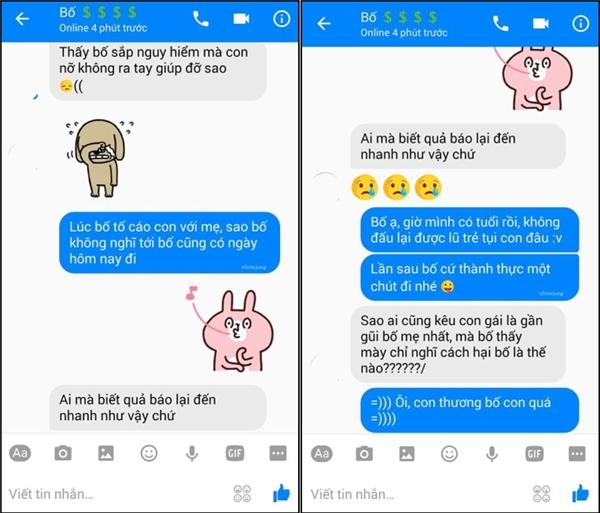 Cười ngất với loạt tin nhắn của bố con nhà họ