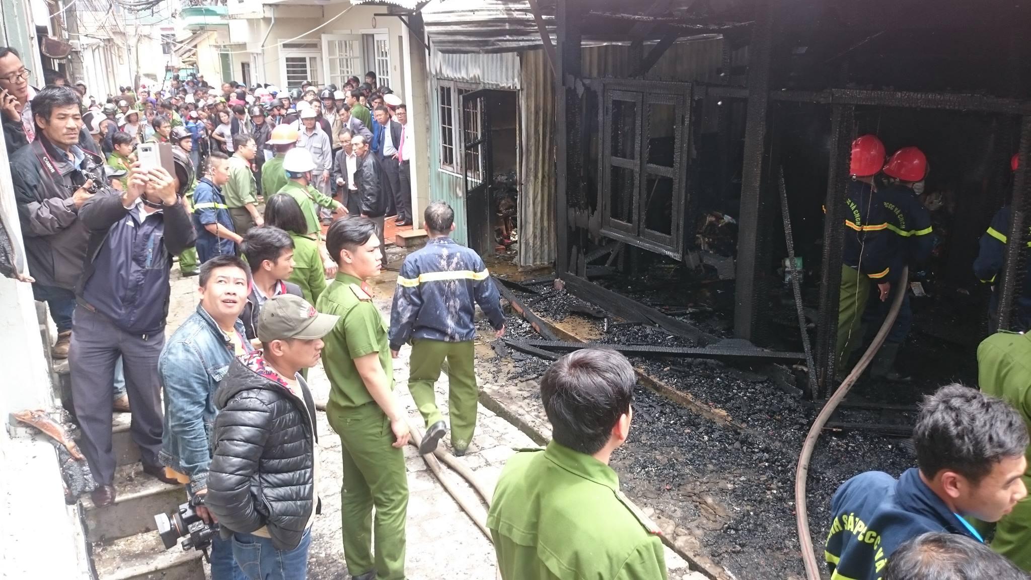 Hỏa hoạn ở trung tâm Đà Lạt, cụ già 92 tuổi tử vong 1