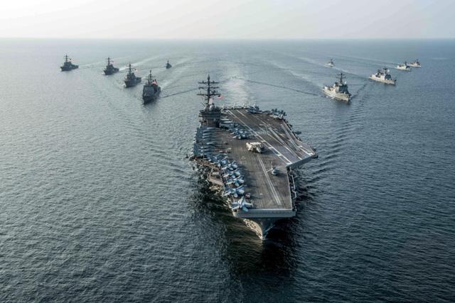Yonhap: Mỹ tính điều 2 tàu sân bay tới 'dằn mặt' Triều Tiên 1