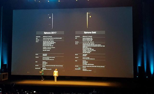 Bphone 2017 Gold ngang tầm iPhone 7 Plus, không bán ở Việt Nam 2