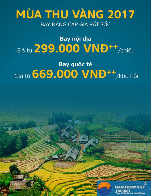 """Hình ảnh Vietnam Airlines – Ưu đãi """"Mùa thu vàng"""" giá cực sốc chỉ từ 299.000 đồng số 1"""
