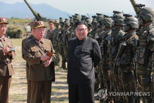 Kim Jong-un thị sát quân đội tấn công giả định chiếm đảo Hàn Quốc 1