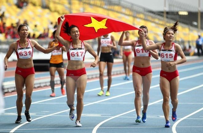 Đột phá dũng mãnh, tuyển điền kinh Việt Nam đứng đầu một kỳ SEA Games 1