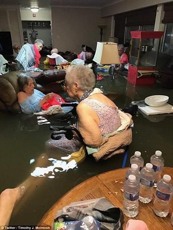 Cảnh sát bế hai mẹ con khỏi ngôi nhà ngập lũ sau bão Harvey  3