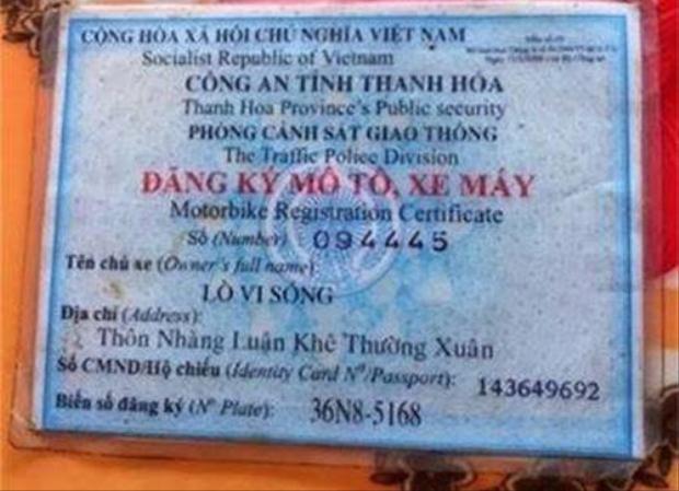 """Hình ảnh Không nhịn được cười với những cái tên """"độc nhất vô nhị chỉ có ở Việt Nam số 3"""