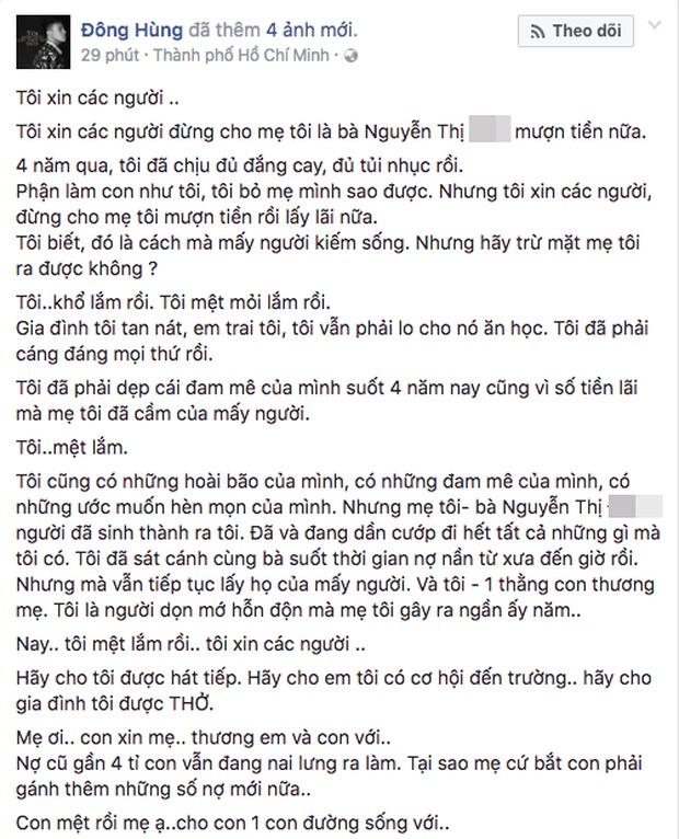 Đàm Vĩnh Hưng nói gì khi Top 3 Vietnam Idol công khai chuyện bị chém vì mẹ nợ 28 tỷ. 2
