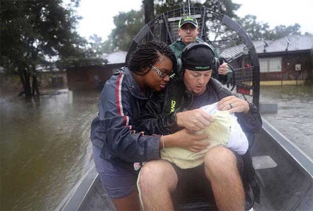 Những khoảnh khắc rơi nước mắt trong bão Harvey  8