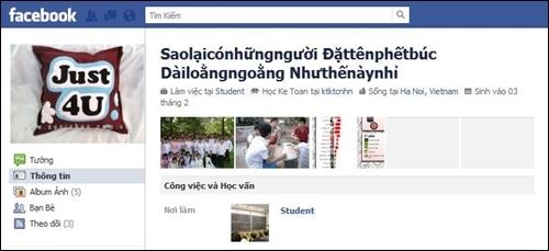 Những cái tên Facebook có 1-0-2 của giới trẻ 2