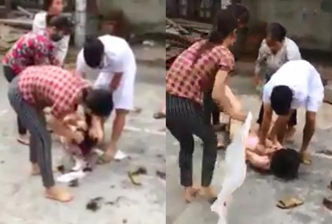 Xác minh clip cô gái trẻ bị hành hung, lột quần áo giữa đường 1