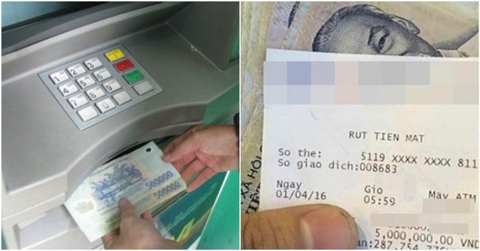 Bạn sẽ không dám giữ lại hóa đơn rút tiền tại máy ATM nữa nếu biết điều này 1