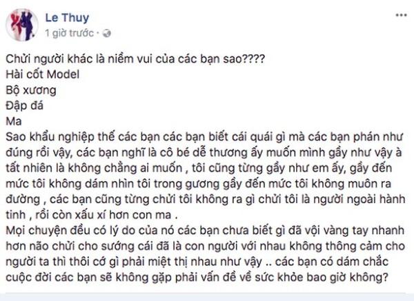 Loạt sao Việt lên tiếng khi Cao Ngân bị dè bỉu ốm như bộ xương di động 3