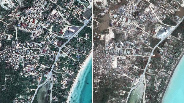 Sốc với sức hủy diệt của siêu bão Irma qua ảnh vệ tinh 1