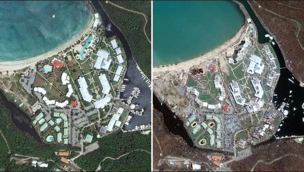 Sốc với sức hủy diệt của siêu bão Irma qua ảnh vệ tinh 2