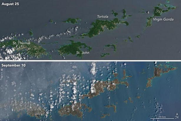 Hình ảnh Sốc với sức hủy diệt của siêu bão Irma qua ảnh vệ tinh số 7