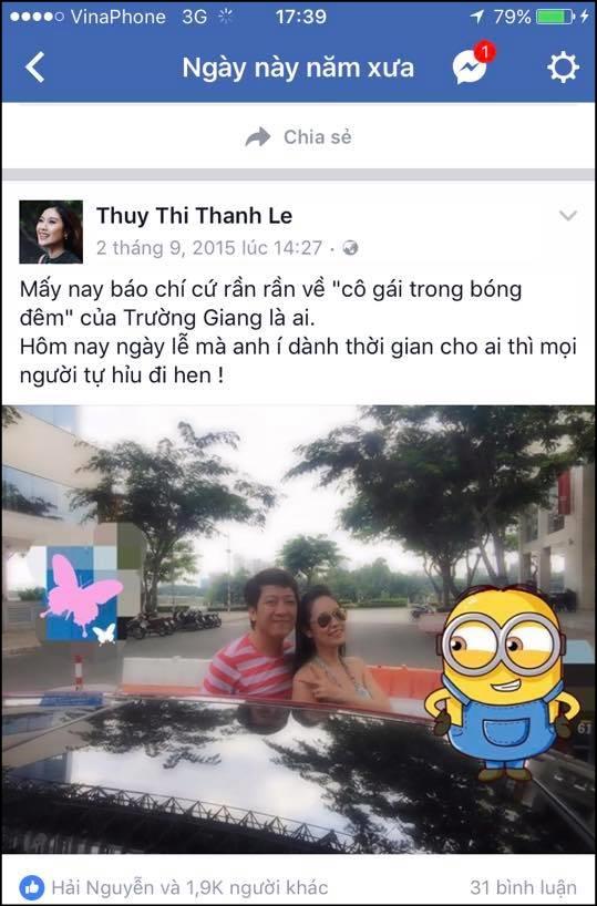 Hình ảnh Trường Giang lộ ảnh tình tứ với Thanh Thúy khi Nhã Phương đi vắng? số 4